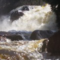 Dropping in to Rainbow Falls from below.- Middle Branch of the Oswegatchie: Section 4