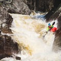 A perfect line on the upper portion of Sluice Falls.- Middle Branch of the Oswegatchie: Section 4