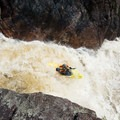 Boofing into the lower section of Sluice Falls.- Middle Branch of the Oswegatchie: Section 4