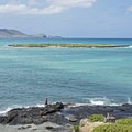 Kailua Bay, home to Popoia Island, known as Flat Island for short.- Flat Island
