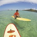 One of the best parts about Kailua is all the islets not far from the shore that people are allowed to recreate on.- Flat Island