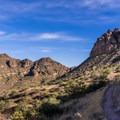 Heading up toward the saddle.- Pass Mountain Loop Hike