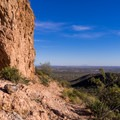 View of Mesa from the saddle.- Pass Mountain Loop Hike