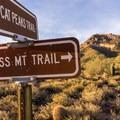 Signage below Pass Mountain.- Pass Mountain Loop Hike