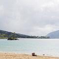 Looking toward Koko Head in Hawaii Kai.- Kahala Beach