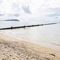 Breakwater at Kahala Beach.- Kahala Beach