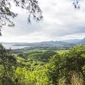 One of the early viewpoints looking southeast toward the town of Kaneohe.- Pu'u Ma'eli'eli Trail