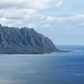 Chinaman's Hat and Kualoa Beach, looking north.- Pu'u Ma'eli'eli Trail
