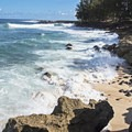 Some of the rocky coves at Sharks Cove.- Sharks Cove