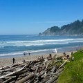 Coming down to the entrance of the beach.- Oregon Coast Trail: Arch Cape to Short Sand Beach
