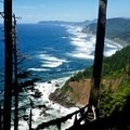 Excellent view from the high point of the trail.- Oregon Coast Trail: Arch Cape to Short Sand Beach