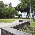 The entrance to Makalei Beach Park.- Makalei Beach Park