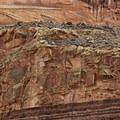 An amazing display of strata.- The Fruita Petroglyphs