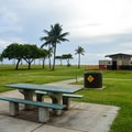 The beach park offers picnic tables and plenty of open space!- Ma'ili Beach Park