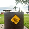 If you bring charcoal, these pits can be used to dispose of it properly.- Ma'ili Beach Park