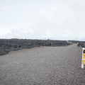 Nearing the end of the trail, air quality is a serious consideration.- Lava Flow Hike via Chain of Craters Road