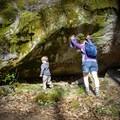 Exploring fun on the Big Creek Trail. - Big Creek Trail to Mouse Creek Falls