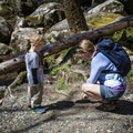 Otter tracks are a great clue for being an Otter Spotter. - Big Creek Trail to Mouse Creek Falls