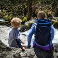 Relaxing beside Mouse Creek Falls. - Big Creek Trail to Mouse Creek Falls