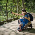Family time on the Little River Trail, Great Smoky Mountains National Park.- Little River Trail