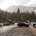 The parking area.- Emerald Lake Backcountry Tour