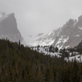 View of the cirque from the parking area.- Emerald Lake Backcountry Tour