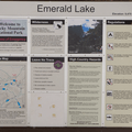 Emerald Lake information sign.- Emerald Lake Backcountry Tour