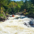 Dogleg is a narrow, busy rapid- Beaver River: Taylorville Stretch