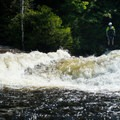 The right side of the first drop offers a twisting slide.- Beaver River: The Spillway to Moshier Falls