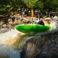 Swarms of paddlers gather at Moshier Falls to watch successful lines and carnage.- Beaver River: The Spillway to Moshier Falls