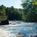 The runout of Moshier Falls leads directly to the takeout.- Beaver River: The Spillway to Moshier Falls