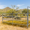 Several campsites have access to a horse corral.- Cave Creek Campground