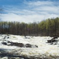 Colton Falls from downstream.- Stone Valley Recreation Area