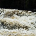 The Tubs in a heavy spring flow.- Stone Valley Recreation Area