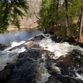 Looking down a side channel.- Twin Falls