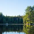 Evening light shines on Francis Lake.- Francis Lake