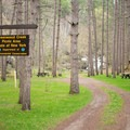 The entrance to the park.- Greenwood Creek Picnic Area