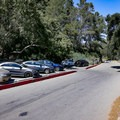 Parking near the trailhead at the top of Canyon Drive.- Hollywood Sign via Canyon Drive
