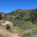 The trail weaves up the canyon, soon reaching views over the greater Los Angeles area.- Hollywood Sign via Canyon Drive