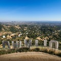 Overlooking the Hollywood Sign from the peak of Mount Lee. This spot provides amazing views over the Los Angeles area.- Hollywood Sign via Mount Lee Drive