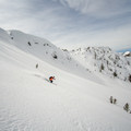 Skiing down one of the many aesthetic bowls.- Galena Summit