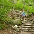 Beginning the steep climb.- Sterling Pond