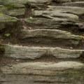 Hand-carved stone steps.- Sterling Pond
