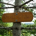 Signage along the trail.- Sterling Pond