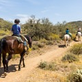 There is an equestrian center in the park.- Cave Creek Regional Park
