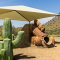 The playground in the picnic area is shaded.- Cave Creek Regional Park
