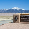 The view as you enter the road into Great Sand Dunes National Park and Preserve.- High Dune Loop