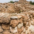 Looking up to the top of Tuzigoot.- Tuzigoot National Monument
