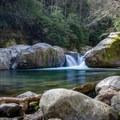 Midnight Hole.- Big Creek Trail to Mouse Creek Falls