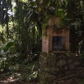 A fireplace from an old jungle estate.- Kamananui Valley Road